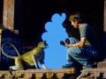Gomille mit Hanuman-Langur