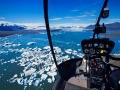 Blick aus dem Helikopter